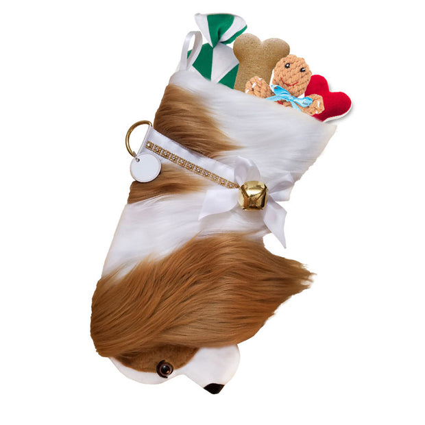 XMAS King Charles Cavalier Stocking - Yap Wear Store Albert Park | Pet Boutique