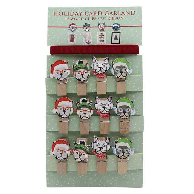 Christmas Card Garland - Yap Wear Store Albert Park | Pet Boutique