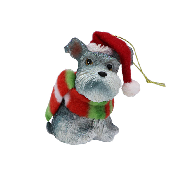 Xmas Tree Ornament - Santa Schnauzer - Yap Wear Store Albert Park | Pet Boutique