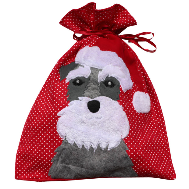 Schnauzer Santa Sack - Yap Wear Store Albert Park | Pet Boutique