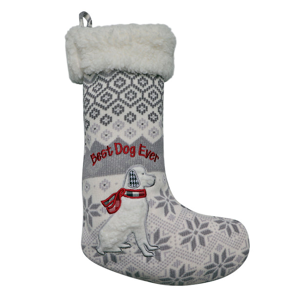'Best Dog Ever' Dog Christmas Stocking - Yap Wear Store Albert Park | Pet Boutique