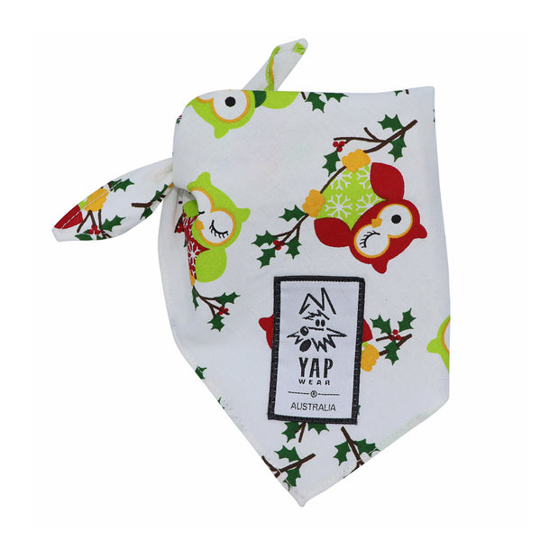 YAPPY Xmas Bandana - Holly - Yap Wear Store Albert Park | Pet Boutique