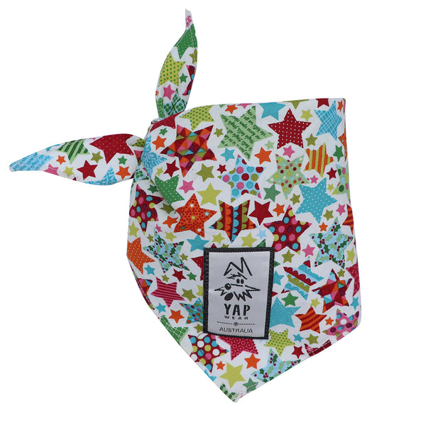 YAPPY Xmas Bandana - Stars - Yap Wear Store Albert Park | Pet Boutique