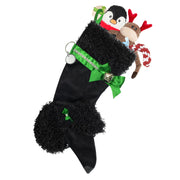 XMAS Poodle stocking - Black - Yap Wear Store Albert Park | Pet Boutique