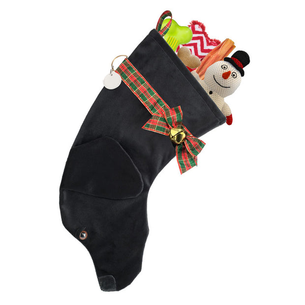 XMAS Labrador stocking - Black - Yap Wear Store Albert Park | Pet Boutique