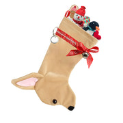 XMAS Chihuahua stocking - Fawn - Yap Wear Store Albert Park | Pet Boutique