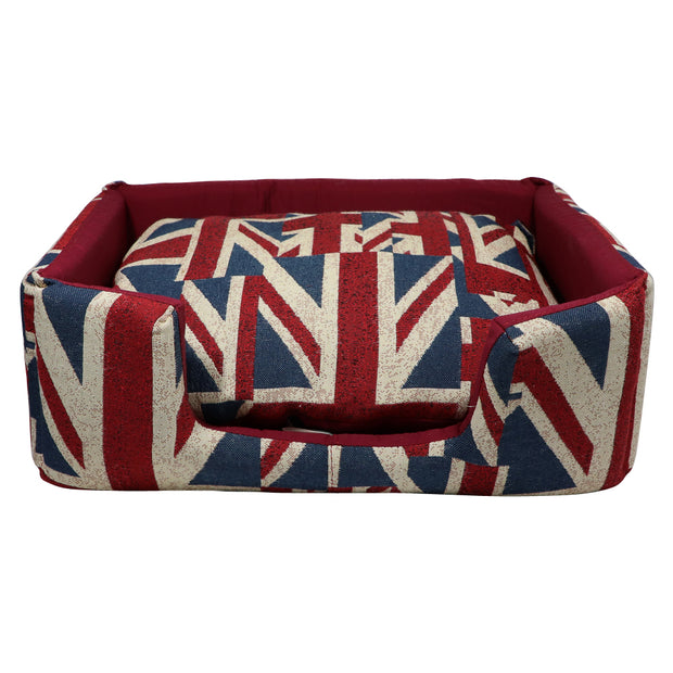 Union Jack Rectangle bed - Yap Wear Store Albert Park | Pet Boutique