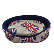 Union Jack bed - Oval - Yap Wear Store Albert Park | Pet Boutique