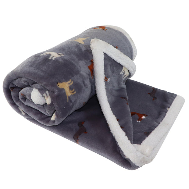 Plush Dog-print Blanket  - Pooch Friends - Yap Wear Store Albert Park | Pet Boutique