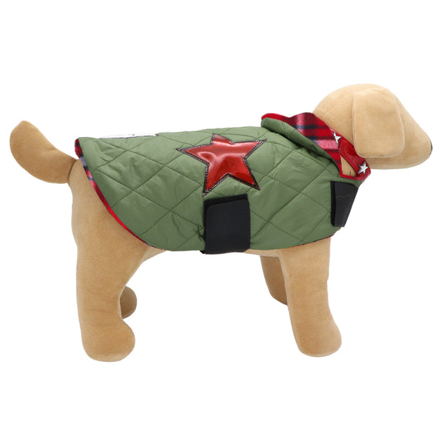 Puffa-star Dogcoat with Tartan lining