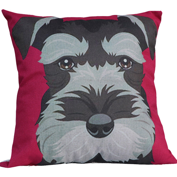Schnauzer Face - Cushion cover