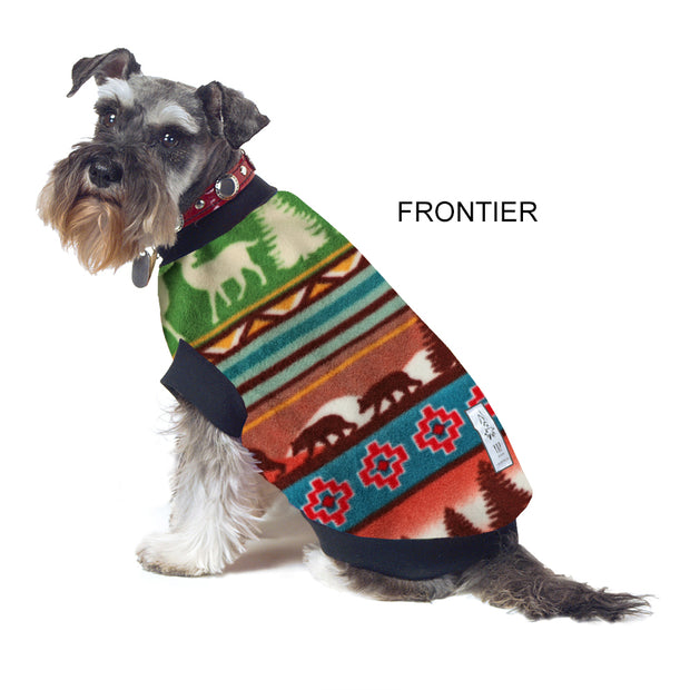 Dog Skivvy - Frontier Print: anti-pill polar fleece - Yap Wear Store Albert Park | Pet Boutique