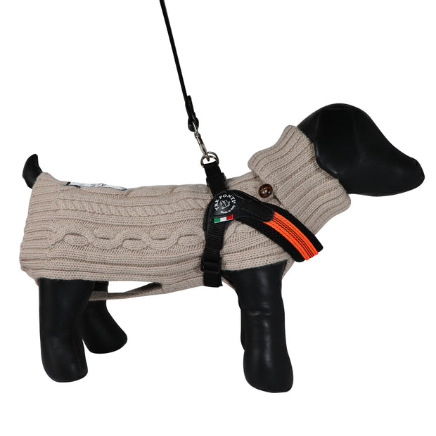 Dog Harness - Tuscan Orange:  Made in Italy - Yap Wear Store Albert Park | Pet Boutique
