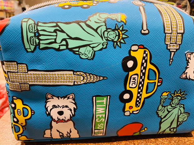 """Westie in New York"" make-up bag - Marc Tetro"