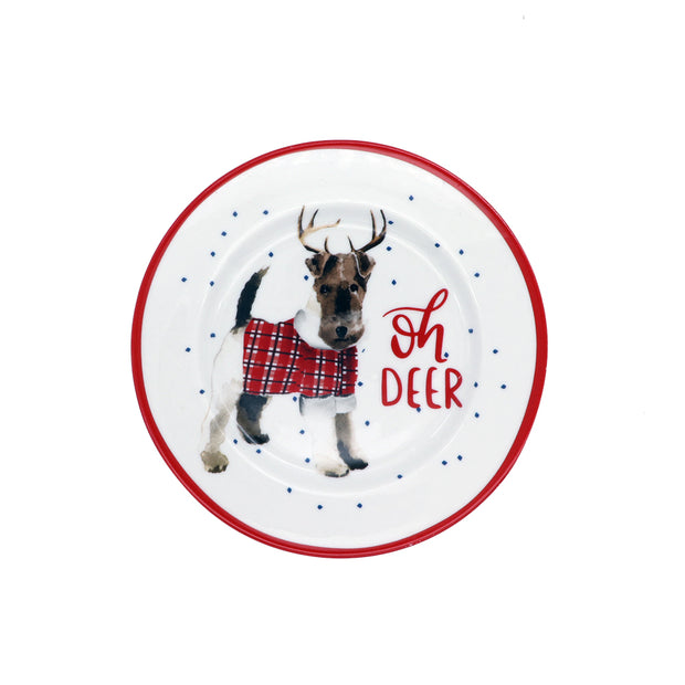 Small porcelain plate - Oh Deer - Yap Wear Store Albert Park | Pet Boutique
