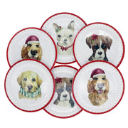 Christmas plates - Set of 6 Dinner Plates - Yap Wear Store Albert Park | Pet Boutique