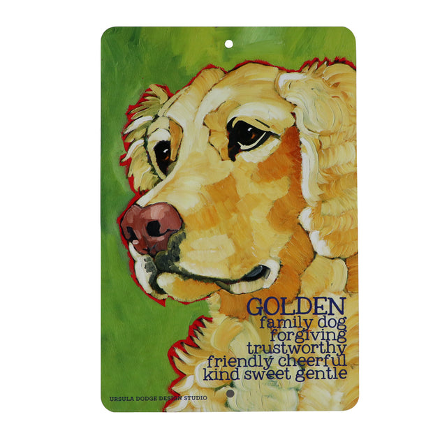 Golden Retriever - family dog - Aluminum sign - Yap Wear Store Albert Park | Pet Boutique