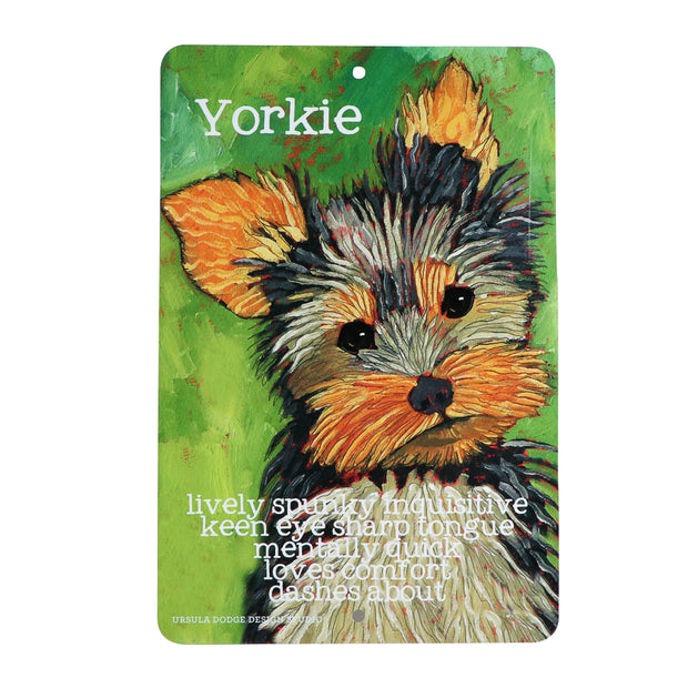 Yorkie - Lively & Sharp - Aluminum sign - Yap Wear Store Albert Park | Pet Boutique