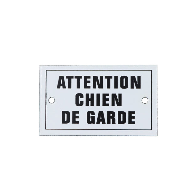 French enamel plaque - Attention Chien De Garde - Yap Wear Store Albert Park | Pet Boutique