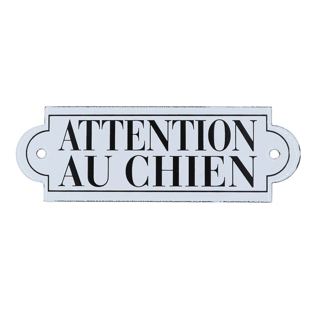 Dog French enamel plaque - Attention Au Chien - Yap Wear Store Albert Park | Pet Boutique