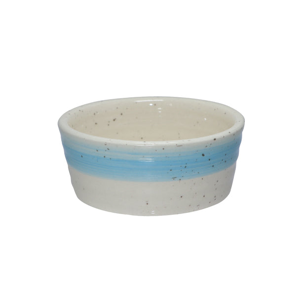 Ceramic Pet Bowl with Paw print motif - Yap Wear Store Albert Park | Pet Boutique