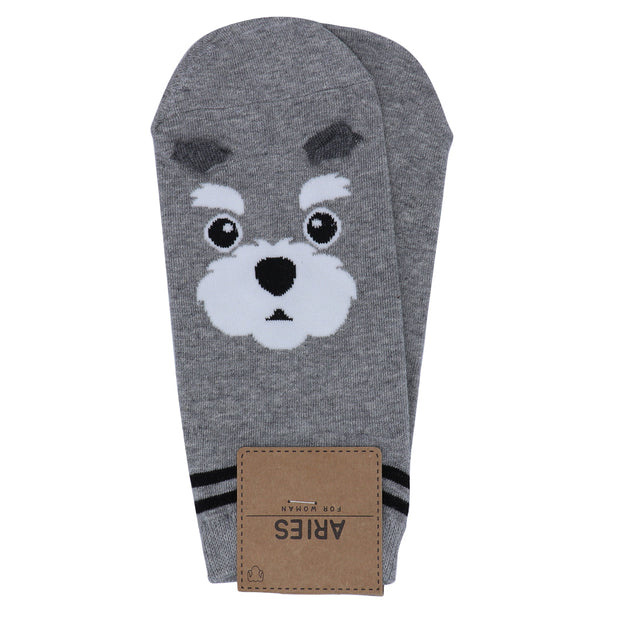 Women's Schnauzer face socks