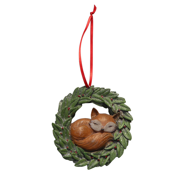 Xmas Tree Ornament - Sleepy Fox - Yap Wear Store Albert Park | Pet Boutique