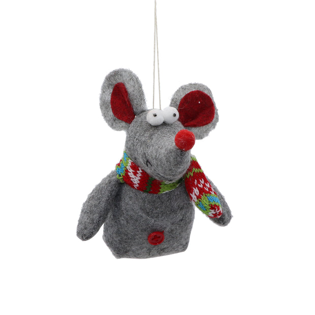 Xmas Tree Ornament - Mouse - Yap Wear Store Albert Park | Pet Boutique