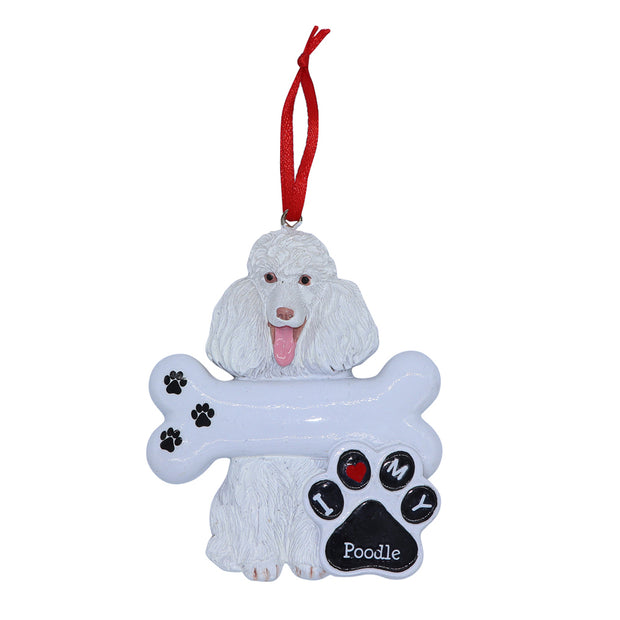 I love my Poodle - Christmas tree ornament - Yap Wear Store Albert Park | Pet Boutique