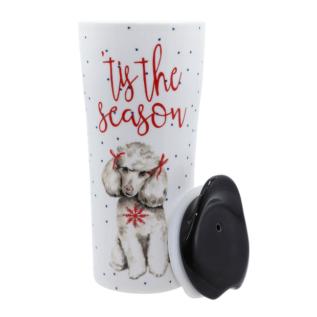 "Poodle ""Tis the season"" - Ceramic Travel Mug - Yap Wear Store Albert Park 