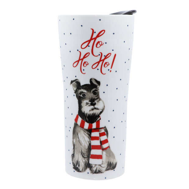 Ho Ho Ho Schnauzer - Ceramic Travel Mug