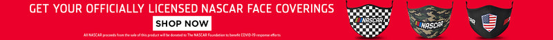 Get your officially licensed NASCAR face coverings