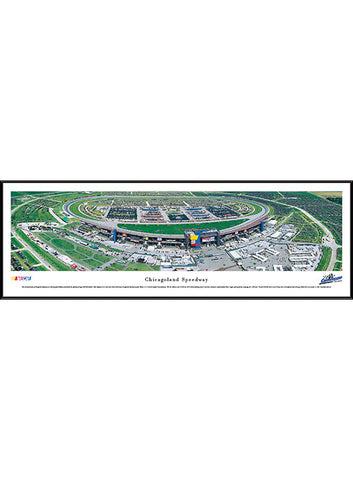 Chicagoland Speedway Leather Wrapped Shot Glass