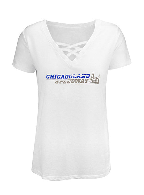 Ladies Chicagoland Speedway Cage Front T-Shirt