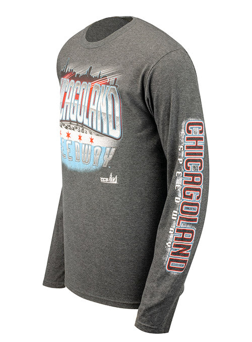 Chicagoland Speedway Patriotic Long Sleeve T-Shirt