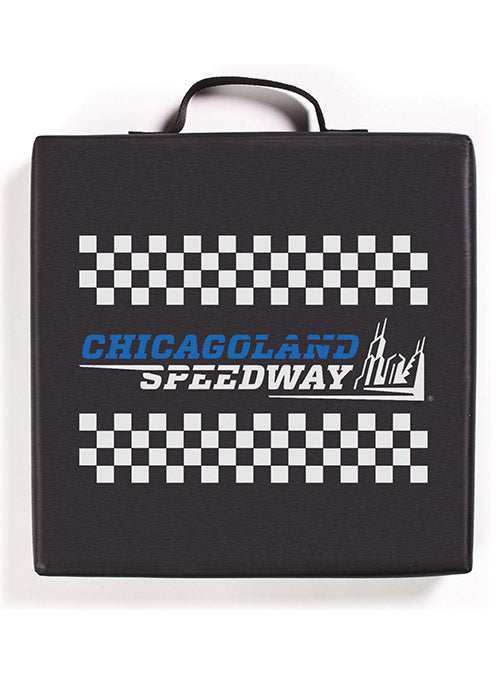 Chicagoland Speedway Checkered Seat Cushion