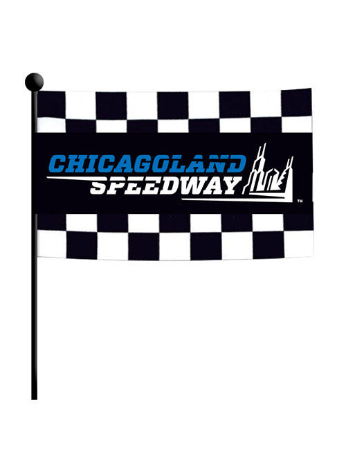 Chicagoland Speedway Checkered Stick Flag