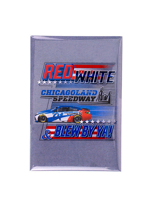 Chicagoland Speedway Patriotic Button Magnet