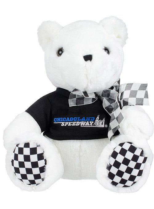 Chicagoland Speedway Checkered Paw Teddy Bear