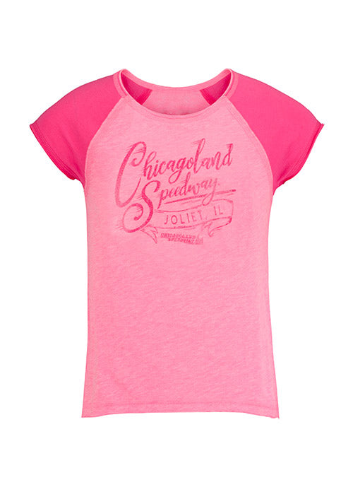 Youth Girls Chicagoland Speedway Script T-Shirt
