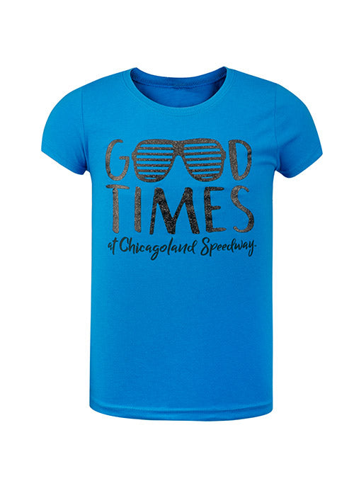 Youth Girls Chicagoland Speedway Let The Good Times Roll T-Shirt