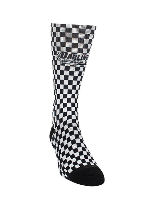 Darlington Raceway Checkered Sock