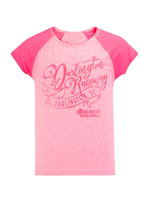 Youth Girls Darlington Raceway Script T-Shirt