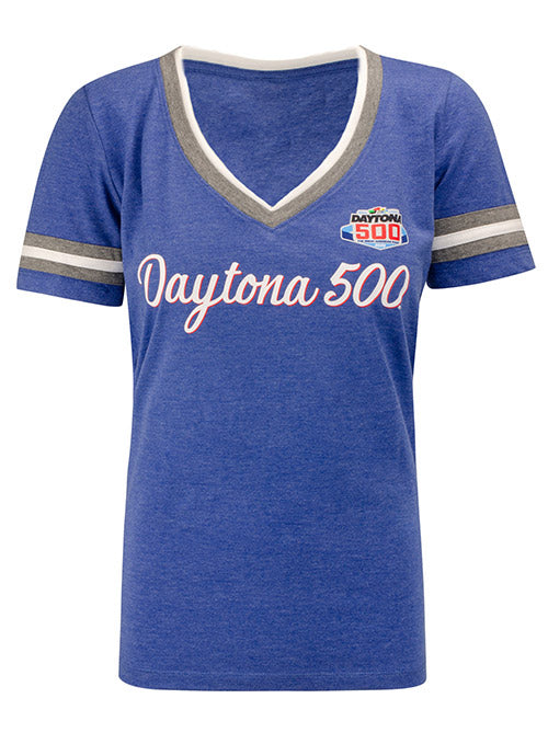 Ladies 2020 DAYTONA 500 Script V-Neck Shirt