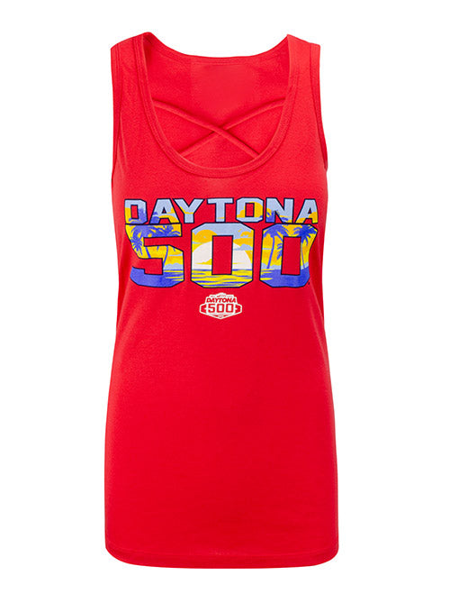 Ladies 2020 DAYTONA 500 Cage Front Tank