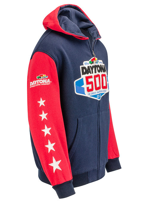 2020 DAYTONA 500 Full Zip Hooded Sweatshirt