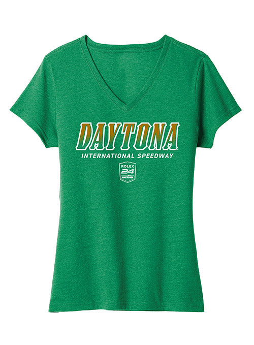 Ladies Rolex 24 at Daytona V-Neck T-Shirt