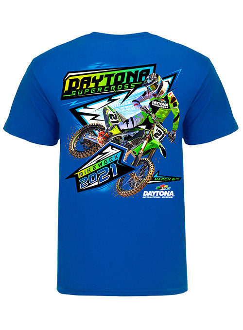 Daytona Supercross Event Tee Neon Blue