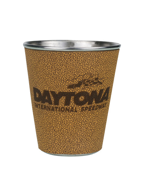 Daytona International Speedway Leather Wrapped Shot Glass