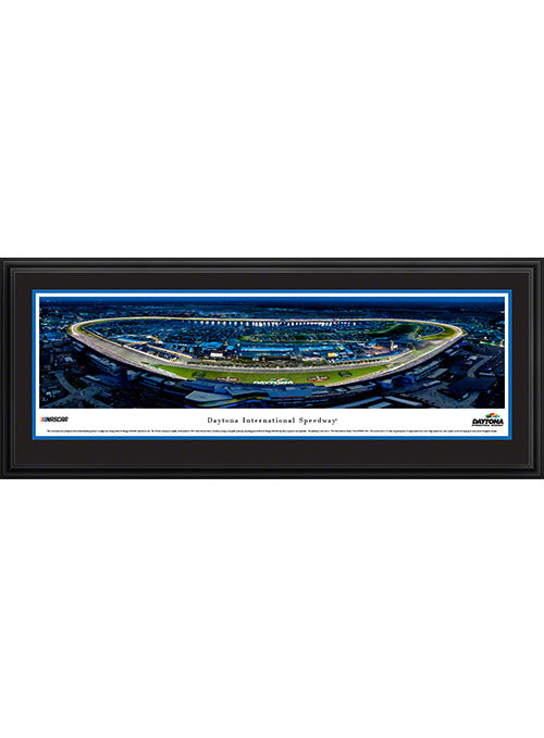 Daytona International Speedway Deluxe Frame Night Panoramic Photo